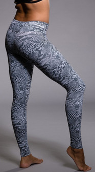 6baded9915 Onzie Gray Reptile Print Legging (209-Nocturnal-gray-reptile)