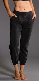 Onzie Black Woven Jagger Pant