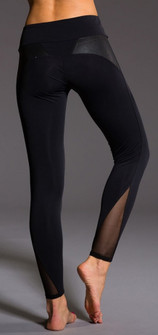 Onzie Black and Texture Mesh Legging (291-Black)