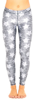 Terez Heathered Gray Stars Leggings