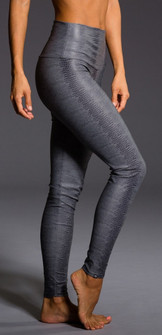 Charcoal Snake Print High Rise Legging By Onzie