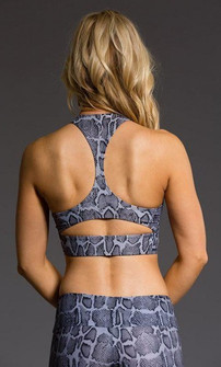 Onzie Grey Python Print Yoga Crop Top (3024-Chamber)