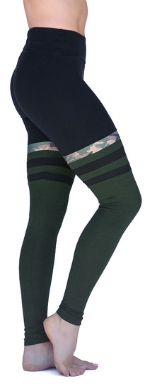 Mia Brazilia Green-Black Camo Motto Legging