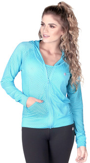 Protokolo Turquoise Candy Crush Mesh Jacket
