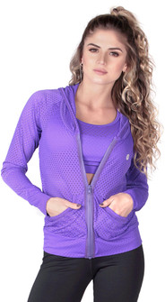 Protokolo Purple Candy Crush Mesh Jacket