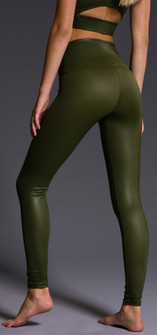 Charcoal Green Diamond High Rise Legging 228-MossGreen