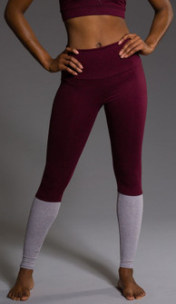 Onzie Burgundy High Rise Hot Legging