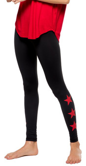 Strut-This Red Stars High Rise Teagan Legging