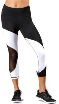 TLF Apparel Black-White Swerve Capri