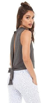 Strut-This Dark Grey Fitz Top
