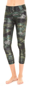 Multi Camo Tall Band Capri Leggings