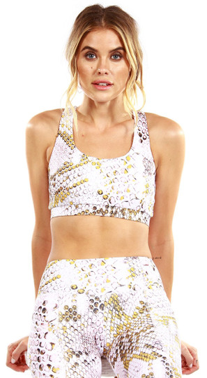 Strut-This Yellow Snake Kinzie Bra Top
