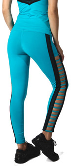 Equilibrium Teal Lattice Legging