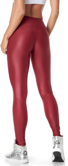 Vestem Shiny Red Zipper Legging