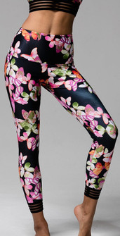 Onzie Butterflies Print High Waist Legging
