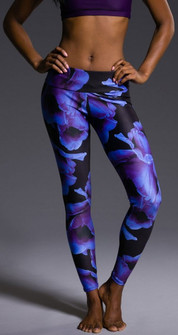 Blue Abstract Print Legging By Onzie Yoga Wear