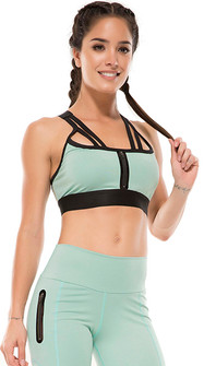 Protokolo Light Green Tower Bra Top