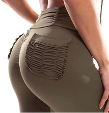 Vestem Army Green Booty Pocket Legging