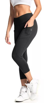 Vestem Black Fashion Pocket Capri