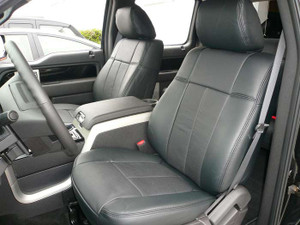 2009-2010 Ford F150 Seat Covers - Black Leather (front row)