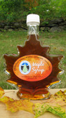 Maple Leaf glass specialty jar with NH Syrup - pint