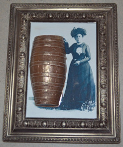 Annie Edson Taylor with Barrel Chocolate Photo