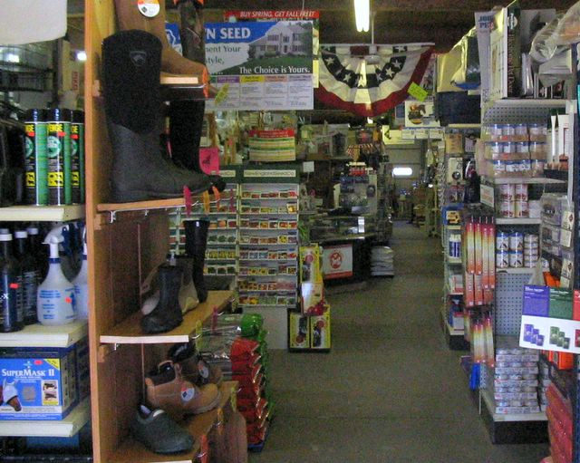 The inside of our farm, garden and pet store