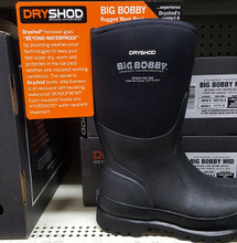 Big Bobby is the rugged work boot -- waterproof and comfortable at almost any temperature up to 70 degrees.