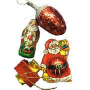 Riegelein Mini Chocolate Christmas Ornaments (4 pieces)