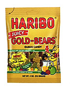 Haribo Juicy Gold Bears Gummies in Bag
