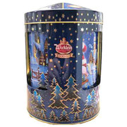 Wicklein Musical Box Round Tin with Assorted Elisen Gingerbreads