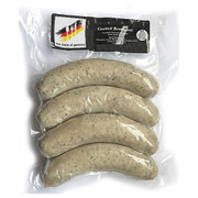 The Taste of Germany Bratwurst Pork and Beef Sausages Pre-Cooked With Celery, Lemon, Leeks 1lbs.