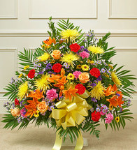 Colorful Sympathy Basket