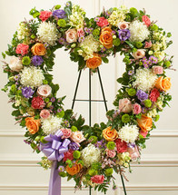 Colorful Heart Wreath