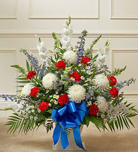 Red, White & Blue Funeral Piece