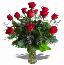 Dozen Red Premium Roses (On Sale!)