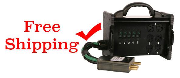 Lex 100 Amp Hollywood Box to (5) 20 Amp Circuits