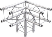 Global Truss SQ-F24C30, 1.64ft. (0.5m) 3 Way 90 Degree Corner SQ-F24C30