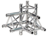 Global Truss TR-4095-U/R, 1.64ft. (0.5m) 4 Way 90 Degree Right Corner Apex Up Right TR-4095U/R
