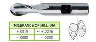 YG1 USA EDP # 41289CN 2 FLUTE REGULAR LENGTH SE BALL NOSE TIN COATED 8% COBALT 1/8 x 3/8 x 3/8 x 2-5/16