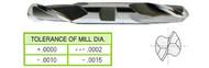 YG1 USA EDP # 45051HC 2 FLUTE REGULAR LENGTH DE BALL NOSE TICN COATED HSS 5/16 x 3/8 x 9/16 x 3-1/8
