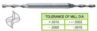 YG1 USA EDP # 51010HF 2 FLUTE LONG LENGTH DE MINIATURE TIALN-FUTURA COATED HSS 3/32 x 3/16 x 9/32 x 1/2 x 2-5/8