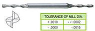 YG1 USA EDP # 51258 2 FLUTE LONG LENGTH DE MINIATURE 8% COBALT 5/64 x 3/16 x 1/4 x 3/8 x 2-1/2