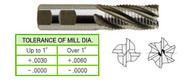 YG1 USA EDP # 64321CC 4 FLUTE REGULAR LENGTH CENTER CUT ROUGHER TICN COATED 8% COBALT 1/2 x 1/2 x 1-1/4 x 3-1/4