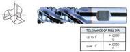 YG1 USA EDP # 66541PC 3 FLUTE REGULAR LENGTH ROUGHER TICN COATED FOR ALUMINUM T-15 1-1/4 x 1-1/4 x 2 x 4-1/2