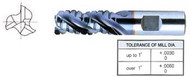 YG1 USA EDP # 66542 3 FLUTE REGULAR LENGTH ROUGHER FOR ALUMINUM T-15 1-1/2 x 1-1/4 x 2 x 4-1/2