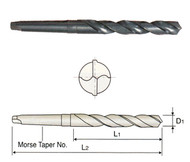 YG1 USA EDP # D1211037 HSS(M2) MORSE TAPER SHANK TWIST DRILLS 37/64 x 4-7/8 x 8-3/4 x MT#2