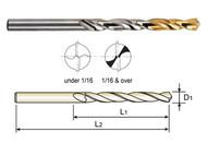 YG1 USA EDP # D1GP182028 HSS(M2) JOBBERS LENGTH STRAIGHT SHANK GOLD-P DRILLS (5 PC SET) 7/16 x 4-1/16 x 5-1/2