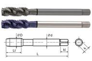 YG1 USA EDP # T1283C HSS-EX COMBO MODI SPIRAL FLUTE TAP DIN LENGTH ANSI SHANK TICN COATED #8-32 UNC GH3 54.0 OAL