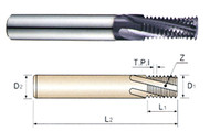 YG1 USA EDP # TF400 THREAD MILLS SOLID CARBIDE 60 DEGREE HELICAL FLUTE TIALN COATED FOR TAPER PIPE THREADS - NPT ANSI B 1.20.1 1/4 AND 3/8 NPT 3 OAL